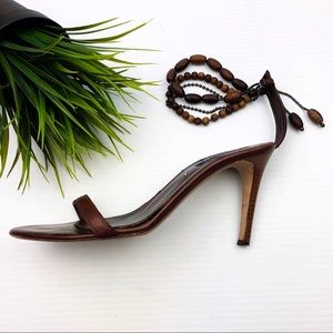 Sergio Rossi beaded strap leather crafted Sandals